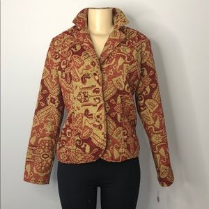 ELCC Red & Tan Coat Blazer fully lined